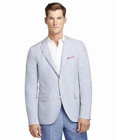 Brooks Brothers The Light Brooks Brothers Seersucker Stripe Sport Coat In Blue For