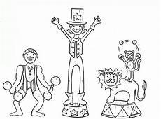 ausmalbilder zirkus kostenlos malvorlagen zum ausdrucken
