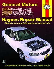 Oldsmobile Alero Cutlass Amp Pontiac Grand Am 1997 2003