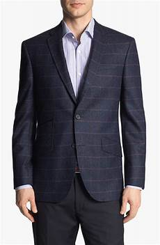 sports coats for big and baker ted baker jim trim fit plaid sportcoat in blue for