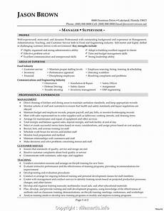 Resume For Food Industry Executive Customer Service Food Industry Resume Food