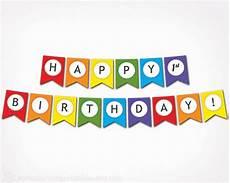 Colorful Happy Birthday Banner Printable Happy Birthday Banner Rainbow Birthday Party