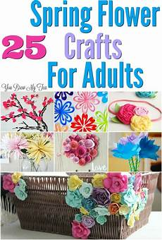 25 flower craft ideas for adults you brew my tea