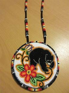 floral iroquois beadwork bears and