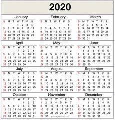 2020 Yearly Calendar Word 2020 Calendar Template Word Pdf Free Latest Calendar
