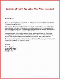 Thank You Letter After Service Completed Send Thank You Letter After Phone Interview 5 Best Examples