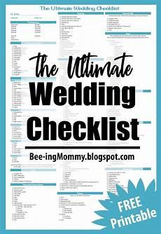 Ultimate Wedding Checklist The Ultimate Wedding Checklist