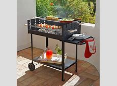 £59.99 Deluxe Charcoal Rectangle Steel Party BBQ. » Home