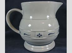 Longaberger Pottery Woven Traditions Classic Blue Beverage
