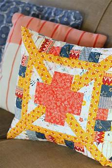 think big patchwork pillow ideas diary of a quilter