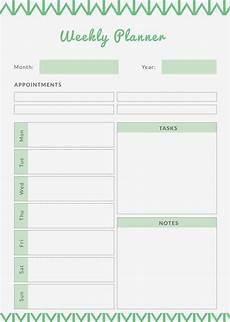 Planner Weekly Template Weekly Meal Planner Template 9 Free Pdf Word Documents