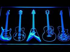 Neon Light Guitar C099 Guitar Weapons Band Room Led Neon Sign With On Off