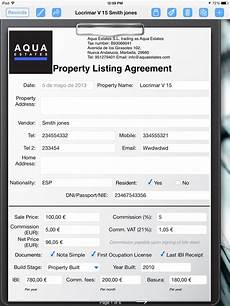 Property Listing Form Template Real Estate Agent Creates Property Listing Form Form