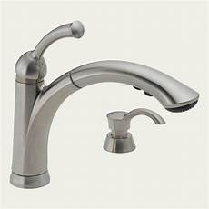 Delta Pull Kitchen Faucet Delta Lewiston 1 Handle Pull Out Brushed Nickel Kitchen