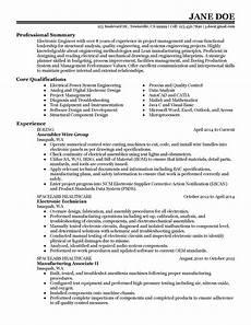 Electronics Engineer Resume Samples Good Resume For Electronics Engineer Electronics