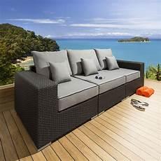 quatropi luxury outdoor 3 seater sofa settee black