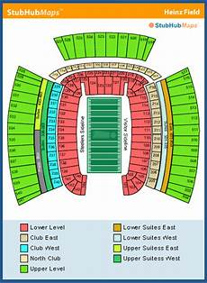 Pittsburgh Steelers Stadium Seating Chart Heinz Field Seating Chart Pictures Directions And