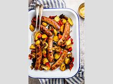 Brats and Peppers Sheet Pan Dinner Recipe   Savory Nothings