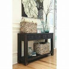 Gavelston Sofa Table 3d Image by Signature Design By Gavelston Sofa Table Black Ebay