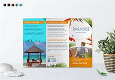 Travel Brochure Cover Design Travel Tri Fold Brochure Design Template In Psd Word