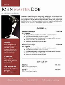 Creative Word Cv Templates Creative Design Resume Doc Format 820 825 Free Cv