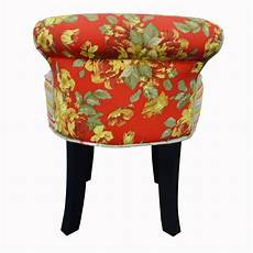 roses shabby chic padded stool low back chair with