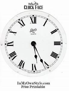Free Printable Clocks Clock Wreath Amp Free Printables In My Own Style