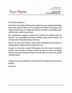 Cover Letter Examples For Nanny Position Nanny Resume Amp Cover Letter Cover Letter For Resume Job