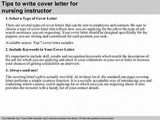 Nursing Instructor Cover Letters Nursing Instructor Cover Letter