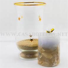 candele vetro porta candele in vetro con sabbia e conchiglie casabottega