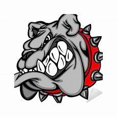 bulldog mascot illustration sticker pixers