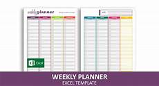 Weekly Planner Excel Template Basic Weekly Planner Excel Template Savvy Spreadsheets