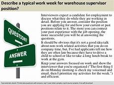 Job Interview Questions For Supervisor Position Warehouse Supervisor Interview Questions