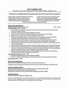 Assistant Property Manager Resumes Property Manager Resume Sample And Tips With Images