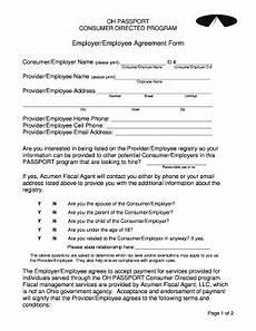 Employee Agreement Form Employer Employee Agreement Form Acumen Fiscal Agent