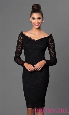 black sleeve dress wars lace shoulder black dress promgirl