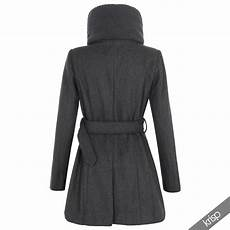 fitted winter coats for scissors womens breasted woollen padded collar neck belt