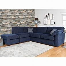lorna navy fabric corner sofa right facing costco uk