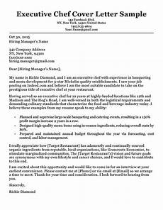 Executive Position Cover Letters Chef Cover Letter Sample Amp Writing Tips Resume Companion