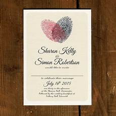 Wedding Invitation Downloads Fingerprint Heart Wedding Invitation And Save The Date By