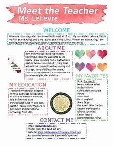 Meet The Teacher Newsletter Templates Editable Meet The Teacher Newsletter Template Watercolor