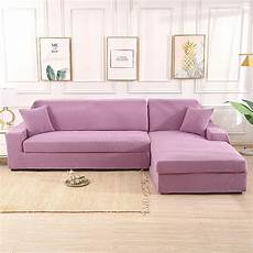 purple stretch elastic sofa cover solid non slip soft