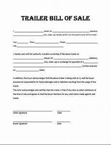 Sample Bill Of Sale For Trailer Free Printable Trailer Bill Of Sale All States Off
