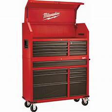 milwaukee 46 in 16 drawer steel tool chest and rolling