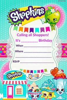 Create Printable Birthday Invitations Updated Free Printable Shopkins Birthday Invitation