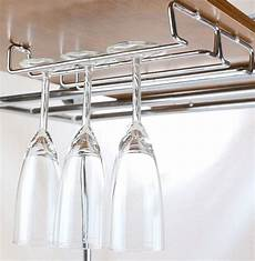 single rail wine glass stemware rack holder chrome
