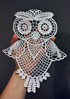crochet owl doily free crochet doily patterns owl
