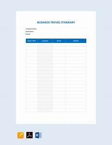 Itinerary Template Pages 33 Free Itinerary Templates Pdf Word Excel Google