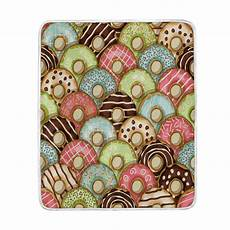 colorful donut blanket soft warm cozy bed