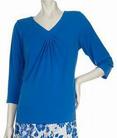 knit tops for 3 4 sleeve new susan graver liquid knit ruched v neck 3 4 sleeve